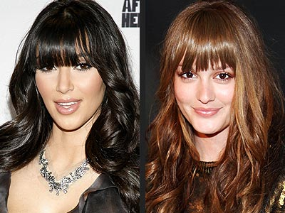 CURLS WITH BANGS photo | Kim Kardashian, Leighton Meester