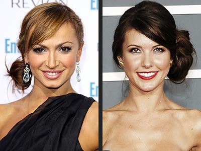 SIDE KNOTS photo | Audrina Patridge, Karina Smirnoff