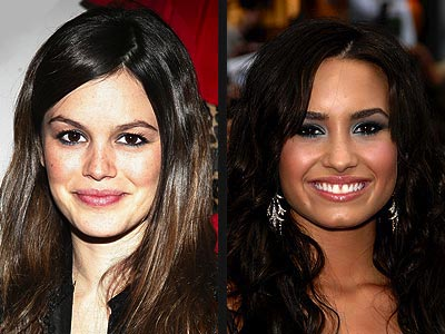 TEAL EYELINER photo | Demi Lovato, Rachel Bilson
