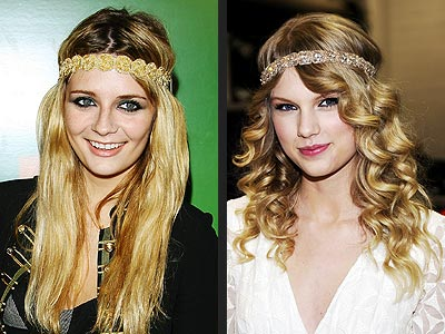BEDAZZLED HIPPIE HEADBANDS photo | Mischa Barton, Taylor Swift