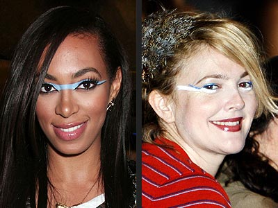GRAPHIC FACE PAINT photo | Drew Barrymore, Solange Knowles