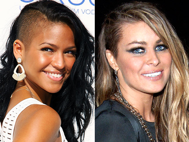 HALF-SHAVED HEAD photo | Carmen Electra, Cassie Steele