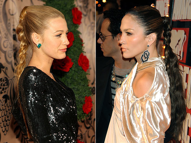 BRAIDED PONYTAILS photo | Blake Lively, Jennifer Lopez
