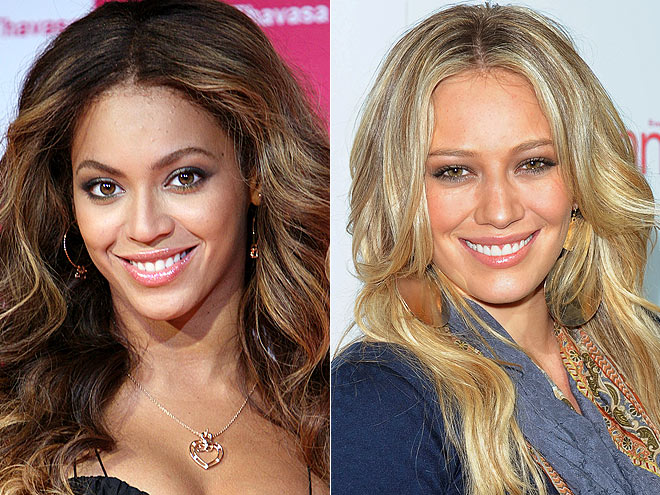 NUDE LIPS photo | Beyonce Knowles, Hilary Duff