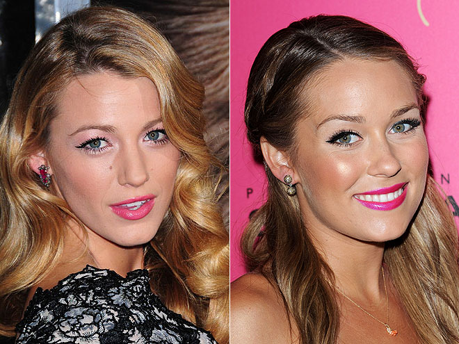 GLOSSY HOT-PINK LIPS photo | Blake Lively, Lauren Conrad