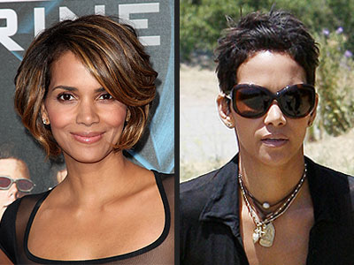 halle berry short hair. halle berry hair.