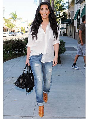 Kim Kardashian Trades Leggings For Ripped Jeans Style News Stylewatch