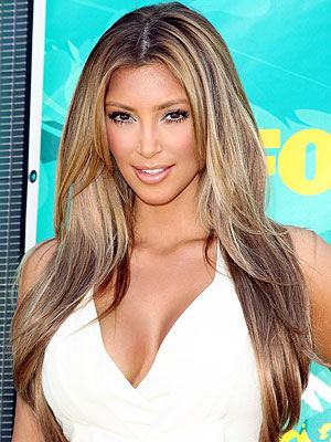 pictures of kim kardashians hair. EXCLUSIVE: Kim Kardashian and