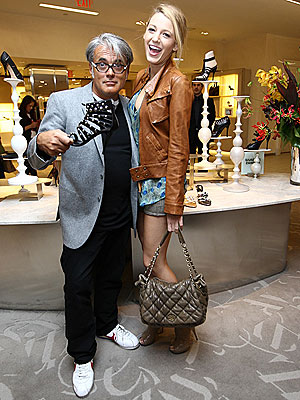 Blake Lively and Giuseppe Zanotti Talk Fall Shoes at Saks Fifth Avenue