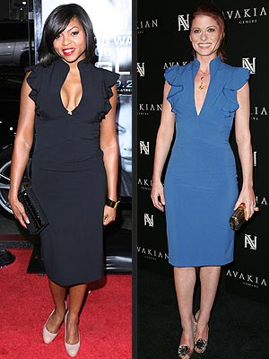TARAJI VS. DEBRA  photo | Debra Messing, Taraji P. Henson