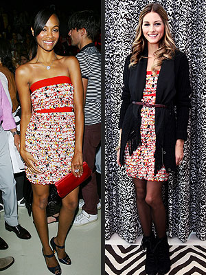 ZOE VS. OLIVIA photo | Olivia Palermo, Zoe Saldana