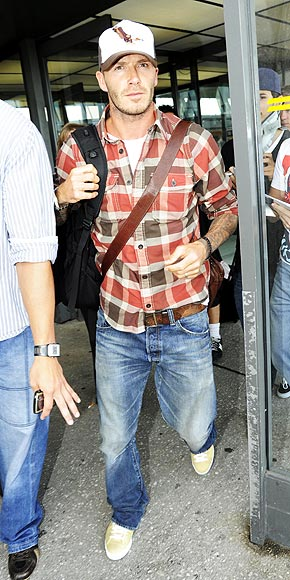 "As mentioned in the latest trend report, Sir David Beckham is really putting the basic denim shirt back on the map. Though the reincarnation of this trend ""officially"" launched in Fall , we're just now (Fall/Winter /) seeing the trendy rise of denim button-ups and ""double denim"" looks on stylish celebrities and urban gentlemen."