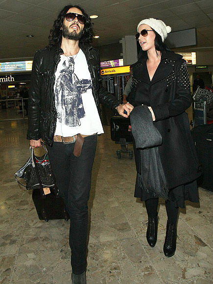 RUSSELL BRAND & KATY PERRY photo | Airport Style, Katy Perry, Russell Brand