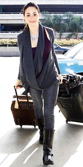 EMMY ROSSUM photo | Airport Style, Emmy Rossum