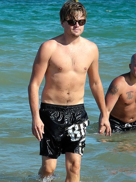leonardo dicaprio in the beach