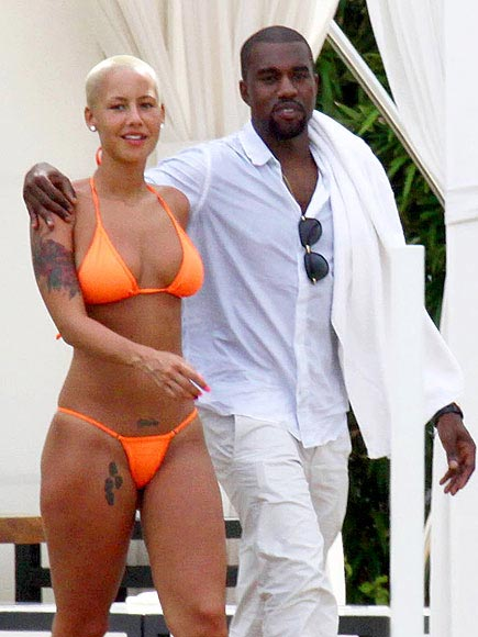 amber rose beach pics. KANYE WEST AND AMBER ROSE