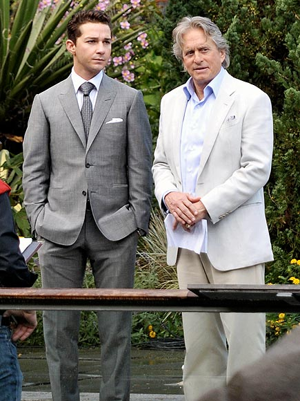 SHIA AND MICHAEL  photo | Michael Douglas