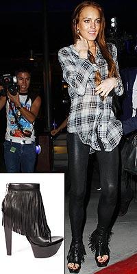 LINDSAY'S ALEXANDER WANG BOOTIESphoto | Lindsay Lohan