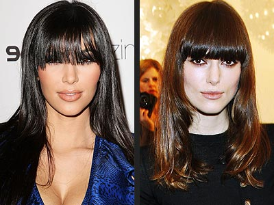 LONG BANGS photo | Keira Knightley, Kim Kardashian