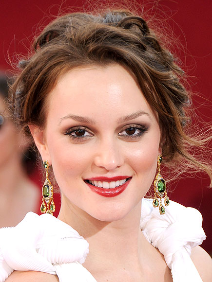 RED LIPS & SMOKY EYES photo | Leighton Meester