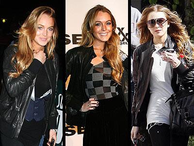 DIESEL BLACK GOLD JACKET photo | Lindsay Lohan