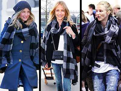 BURBERRY SCARF photo | Cameron Diaz
