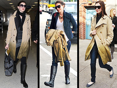 BURBERRY TRENCH photo | Anne Hathaway