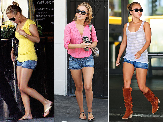 7 FOR ALL MANKIND SHORTS  photo | Hayden Panettiere