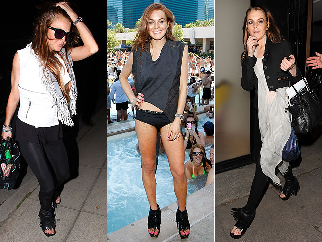 ALEXANDER WANG BOOTIES photo | Lindsay Lohan