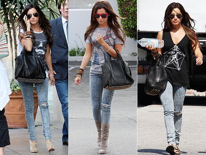 JET JEANS & ALEXANDER WANG BAG photo | Ashley Tisdale