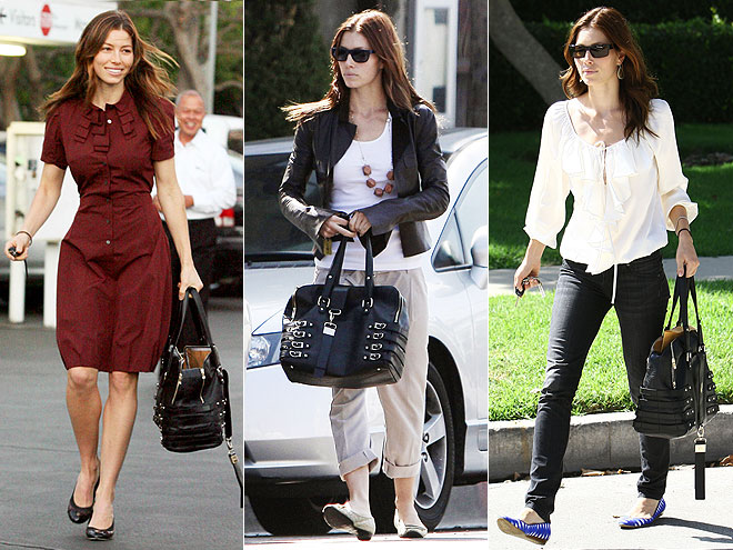 JIMMY CHOO SATCHEL photo | Jessica Biel