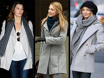 GRAY COATS  photo | Blake Lively
