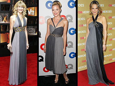 TWO-TONE GRAY DRESSES photo | Jaime King, Laura Dern, Molly Sims