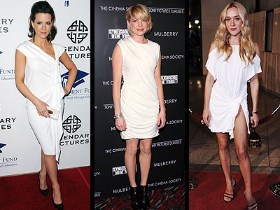 DRAPED WHITE DRESSES