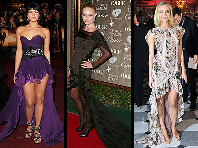 ASYMMETRICAL HEMLINES  photo | Diane Kruger, Kate Bosworth