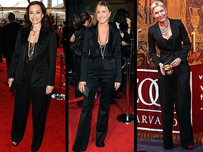 TUXEDO PANTSUITSphoto | Jennifer Aniston, Kristin Scott-Thomas, Renee Zellweger