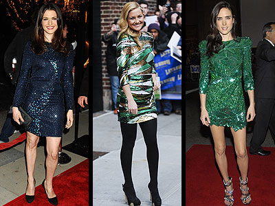 SEQUINED DRESSES  photo | Jennifer Connelly, Kate Hudson, Rachel Weisz