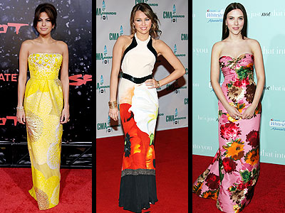 OVERSIZED FLORALS photo   Eva Mendes, Miley Cyrus, Scarlett Johansson