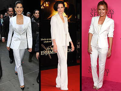 WHITE TUXEDOS  photo | Angelina Jolie, Becki Newton, Teri Hatcher