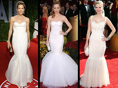 WHITE FISHTAIL GOWNS photo | January Jones, Melissa George, Sheryl Crow