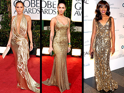 GOLDEN GOWNS  photo | Jennifer Lopez, Kerry Washington, Megan Fox
