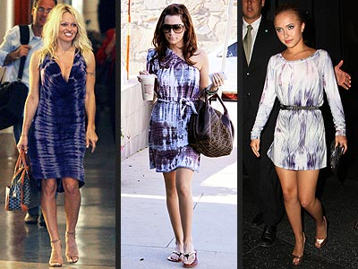PURPLE TIE-DYE DRESSES
