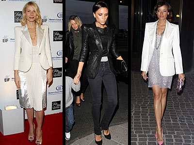 EXAGGERATED SHOULDERS photo | Gwyneth Paltrow, Selita Ebanks, Victoria Beckham
