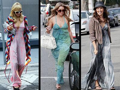 TIE-DYED MAXIDRESSES photo | Ashley Tisdale, Lauren Conrad, Paris Hilton