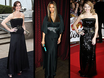 JEWELED BLACK GOWNS photo | Brooke Shields, Kylie Minogue, Tyra Banks