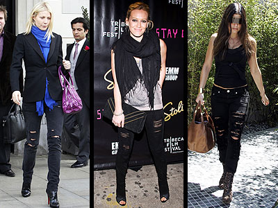 RIPPED BLACK JEANS  photo | Fergie, Gwyneth Paltrow, Hilary Duff