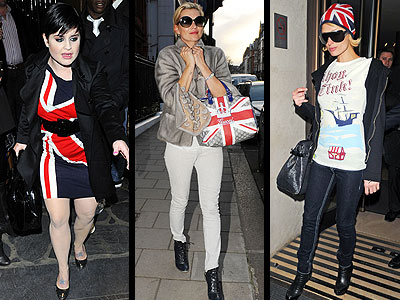 UNION JACKS  photo | Kate Moss, Kelly Osbourne, Paris Hilton