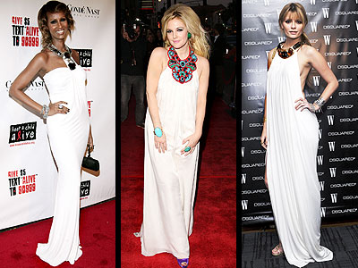 BEADED WHITE GOWNS photo | Drew Barrymore, Iman, Mischa Barton