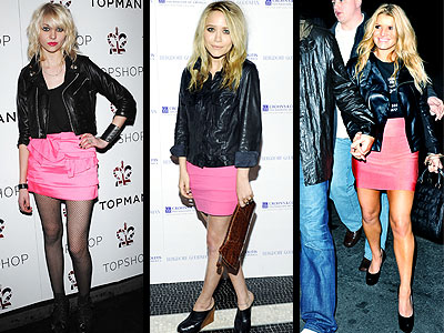 PINK SKIRTS photo | Jessica Simpson, Mary-Kate Olsen, Taylor Momsen