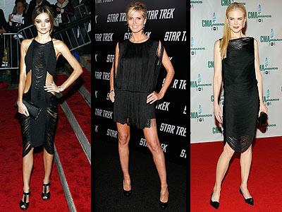 FRINGED BLACK DRESSESphoto | Heidi Klum, Miranda Kerr, Nicole Kidman